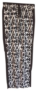 Romeo & Juliet Couture Black White Cropped Pants
