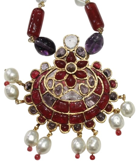 Preload https://img-static.tradesy.com/item/19018489/chanel-multi-color-gold-cranberry-red-gripoix-faux-pearl-beads-necklace-0-5-540-540.jpg