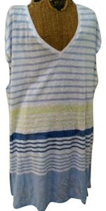 Vince Camuto Vince Camuto Striped Linen Swim Cover Up