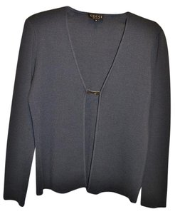 Gucci Italy Wool Blend Tailored Sweater Cardigan