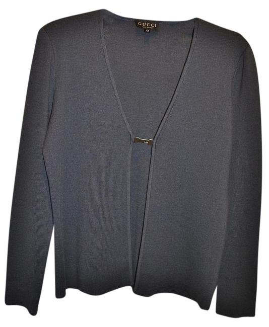Preload https://img-static.tradesy.com/item/19018867/gucci-charcoal-gray-wool-silk-knit-sweater-open-front-slim-fit-cardigan-size-10-m-0-1-650-650.jpg
