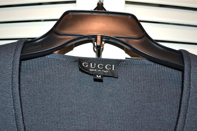 Gucci Italy Wool Blend Tailored Sweater Cardigan Image 3