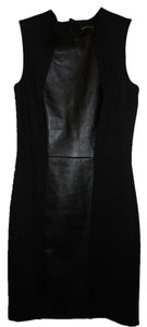 Cynthia Steffe Faux Leather Exposed Zipper Dress