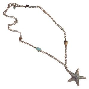 Lucky Brand Stunning Starfish Pendant Charmed Necklace