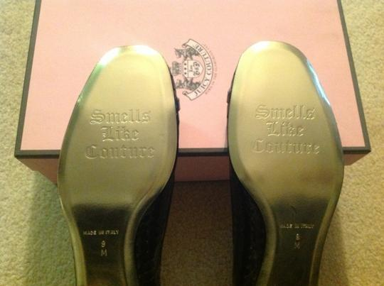 Juicy Couture Style: J150711 - Patent Gold Rings Black Flats