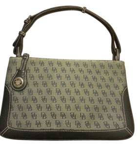 Dooney & Bourke & Canvas Signature Monogram Shoulder Bag