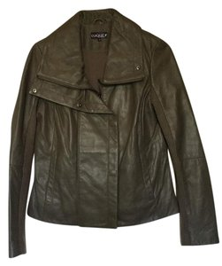 Clique Taupe Leather Jacket
