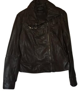AllSaints Dark brown Leather Jacket