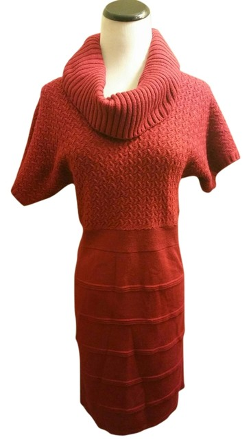 The Limited short dress Brick Red on Tradesy