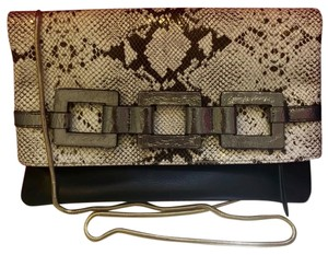Trina Turk Snake And Black Clutch