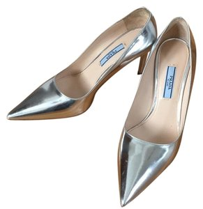 Prada Silver Pumps