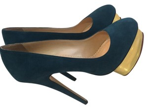 Charlotte Olympia Turquoise Platforms