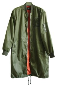 Long bomber green Jacket