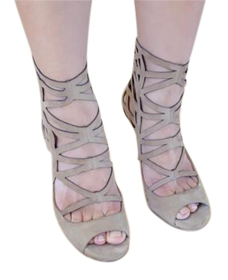 6a17be11bbbb Jimmy Choo Nude Verdict Cage Suede Sandals Size US 6.5 Regular (M