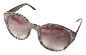 Free People Leopord Print Round Sunglasses