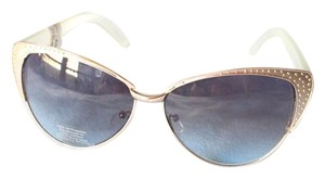 Urban Outfitters Plastic and Metal Retro Cat-Eye Sunglasses