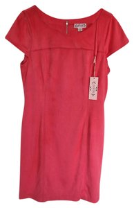 Nanette Lepore Pink Knee Faux Suede Dress