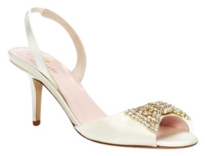 Kate Spade Wedding Formal Miva Satin Ivory Sandals