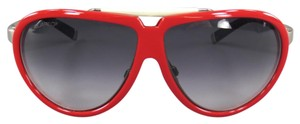 Dsquared2 Red & White Metal Aviator Sunglasses DQ 0003