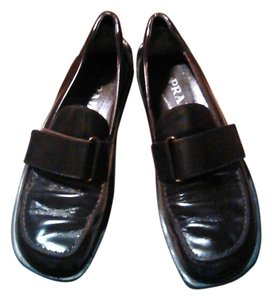 Prada Loafers Leather Brown Flats