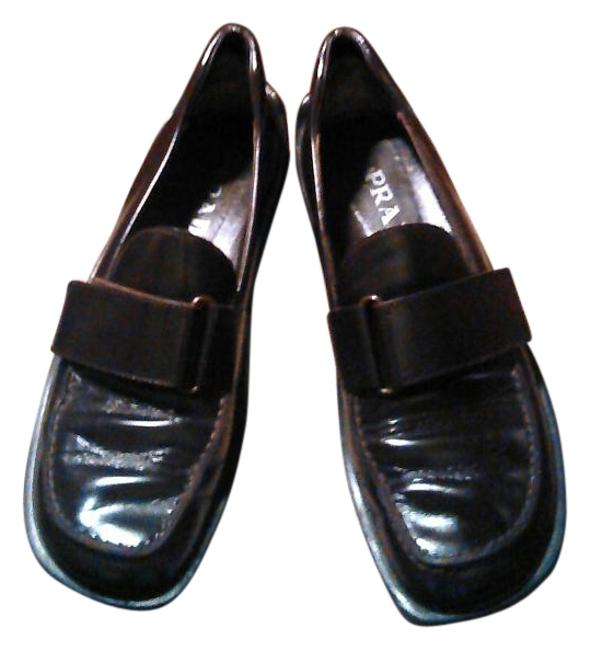 Item - Brown Dark Leather Wedge Loafers Flats Size US 8.5 Regular (M, B)