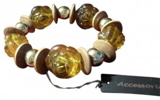 Preload https://item3.tradesy.com/images/multi-color-browns-and-brass-chunky-fashion-stretch-bracelet-19022-0-0.jpg?width=440&height=440
