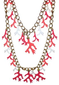 Lilly Pulitzer Lilly Pulitzer Gorgeous Gold Coral Statement Necklace