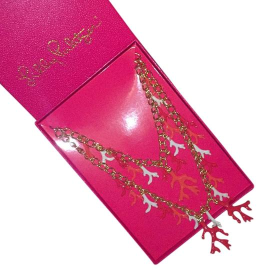 Lilly Pulitzer Lilly Pulitzer Gorgeous Gold Coral Statement Necklace Image 1