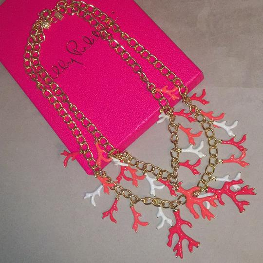 Lilly Pulitzer Lilly Pulitzer Gorgeous Gold Coral Statement Necklace Image 3