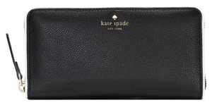 Kate Spade New Cobble Hill Lacey Black/White Continental Wallet