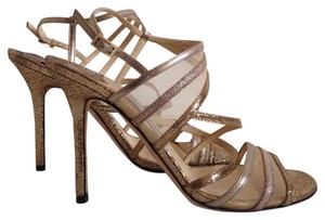 Jimmy Choo Visby Metallic Gold Sandals