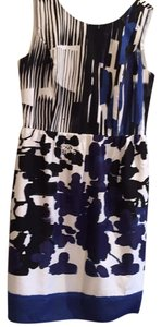 Ellen Tracy short dress Black, white and navy on Tradesy