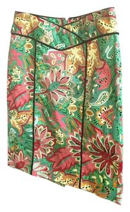Nanette Lepore Print Color-blocking Skirt Multicolor