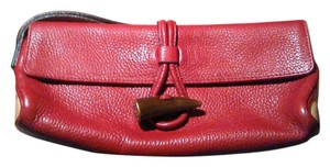 Burberry London Burberry Leather Red Clutch