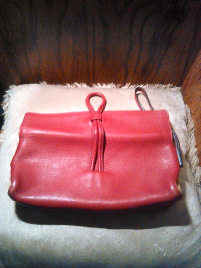 Burberry London Leather Red Clutch Image 5