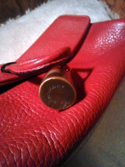Burberry London Leather Red Clutch Image 6