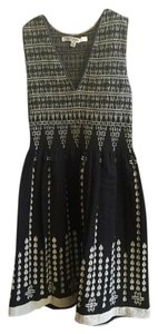 Max Studio short dress Black and Ivory Print Stretchy on Tradesy