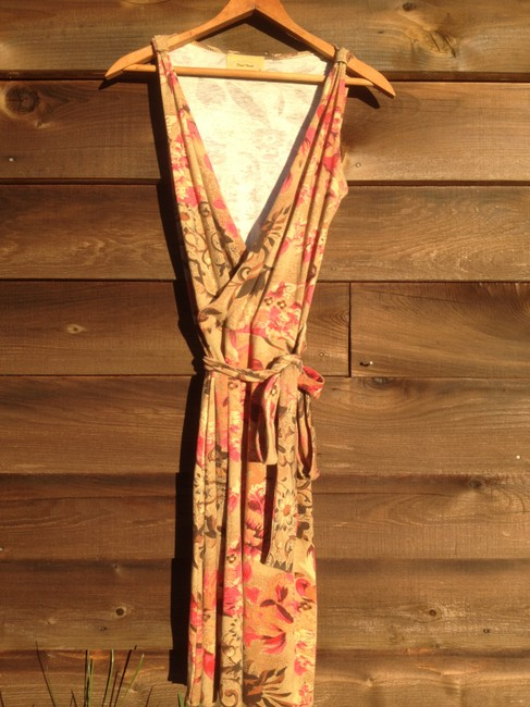 Other short dress Floral Wrap Dark Cinched Bohemian Boho on Tradesy