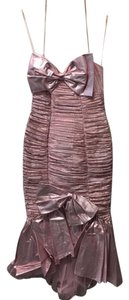 Karen Okada Formal Evening Metallic Prom Dress