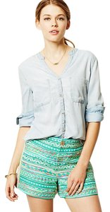 Anthropologie Bandera Buttondown Denim Button Down Shirt Blue