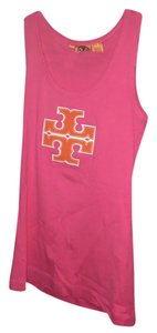 Tory Burch Logo Comfy Orange Top Pink