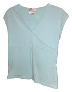 Lilly Pulitzer Wrap V-neck T Shirt Turquoise