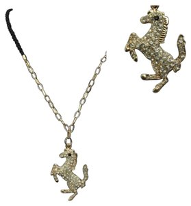Other New Austrian Crystal and Hemp Equestrian Necklace
