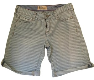 Anthropologie Cuffed Shorts Blue and white striped
