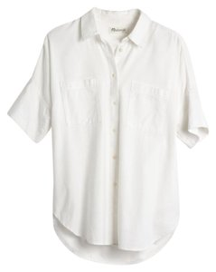 Madewell Boxy Slouchy Summer Button Down Shirt White