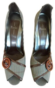 Paolo Brown/multi-color Pumps