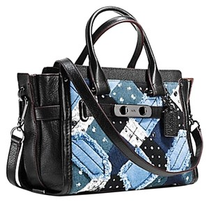 Coach Satchel in Denim Gunmetal