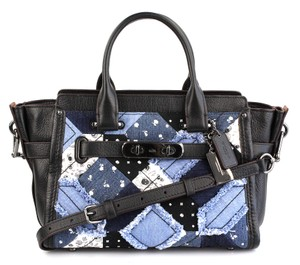 Coach Satchel in Canyon Quilt Denim