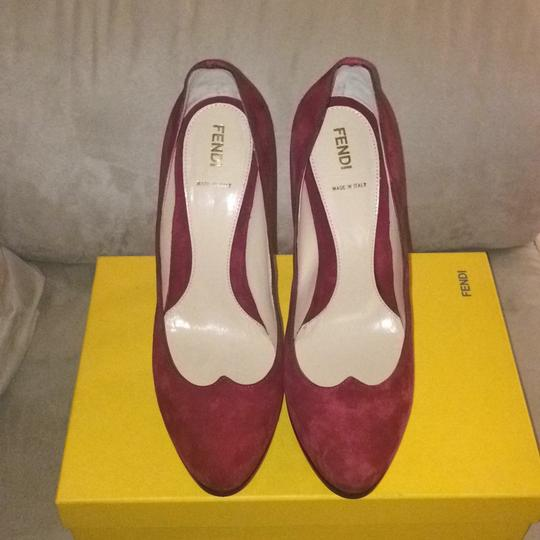 Fendi Burgundy Platforms Image 2