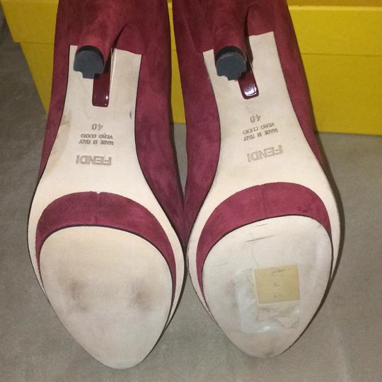 Fendi Burgundy Platforms Image 4